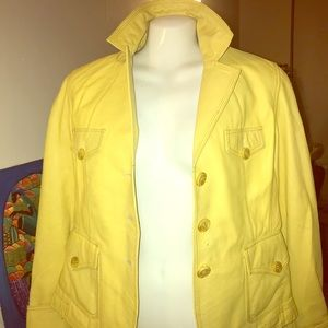 Wilson 100% leather yellow jacket